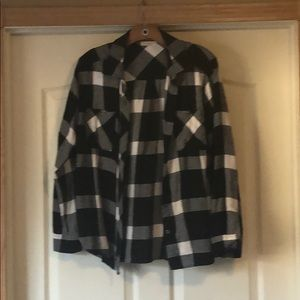Cute black and white flannel